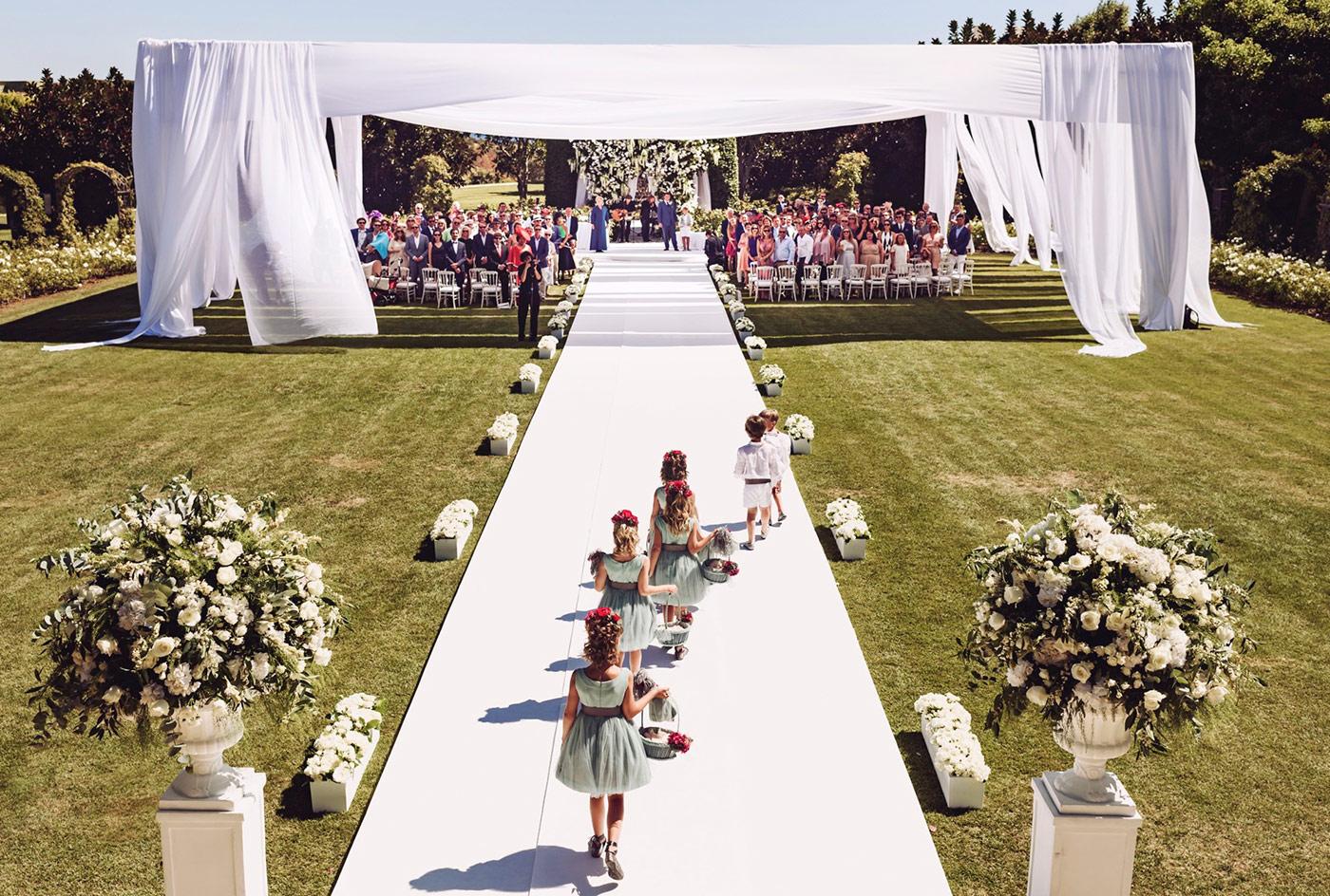 Organización de boda exclusiva en finca